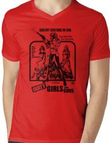 Dirty Guns With Guns Mens V-Neck T-Shirt
