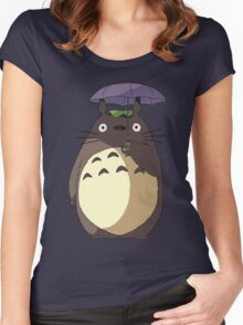 My Neighbour Totoro - Umbrella Totoro Women's Fitted Scoop T-Shirt