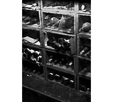 0147 Dusty Old Bottles BW Photographic Print