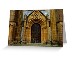 Buckfast Abbey Entrance Greeting Card