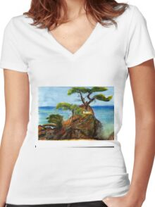 Lone Cypress Women's Fitted V-Neck T-Shirt