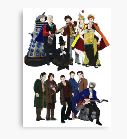 Doctor Who - The 13 Doctors II Canvas Print