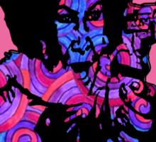 Spirals in Afro Funk Sister Sticker