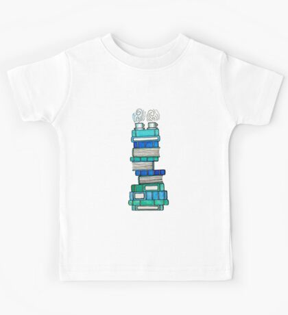 Books and Tea for Two Kids Tee