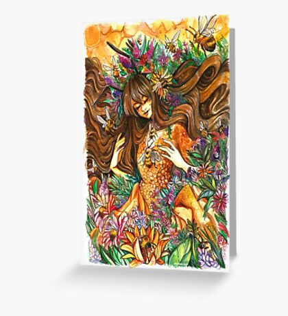 Youtube Artist Collective- Bee goddess Greeting Card
