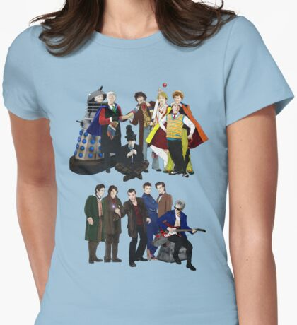 Doctor Who - The 13 Doctors II Womens Fitted T-Shirt