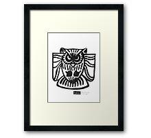 LINE : Owl Framed Print