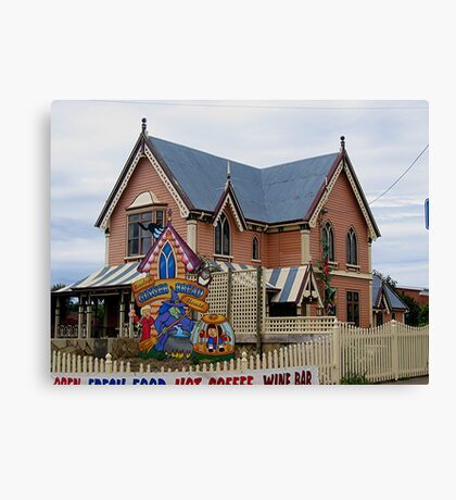 Gingerbread House, Tasmania Canvas Print