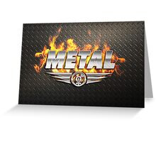 Heavy Metal Fire Greeting Card