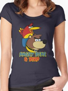 Angry Bear & Bird Women's Fitted Scoop T-Shirt