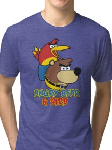 Angry Bear & Bird Tri-blend T-Shirt