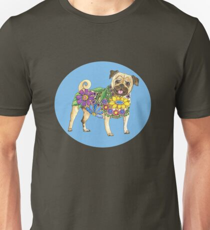 The Pugster Blue Unisex T-Shirt
