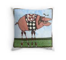 Stilt pig Throw Pillow