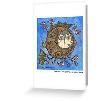 Submarine kitties II Greeting Card