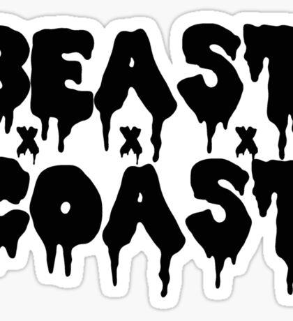 Beast Coast - Black Sticker