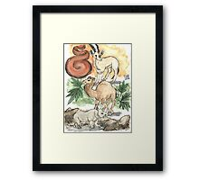 Stone, Earth and Fire Framed Print