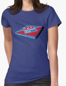 Tetrominos Pizza Box Womens Fitted T-Shirt