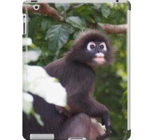 Black and white monkey iPad Case/Skin