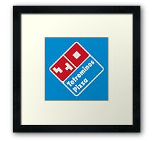 Tetrominos Pizza Framed Print