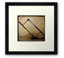 Abstract Rectangle Three Framed Print