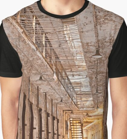 Glowing Prison Corridor Graphic T-Shirt