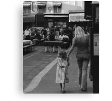Mother and Daughter at Rue. St. Benoit Canvas Print
