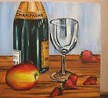Champagne and Strawberries by Eleanor Andrews