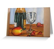 Champagne and Strawberries Greeting Card