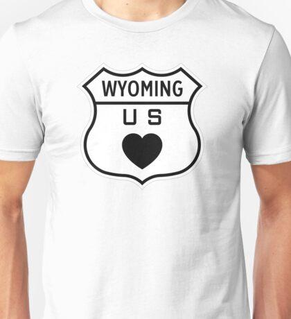 Wyoming US Highway love Unisex T-Shirt
