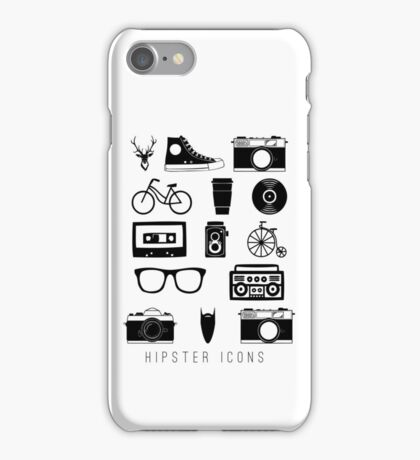 Hipster icons iPhone Case/Skin