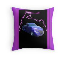 Shock on Wheels Throw Pillow