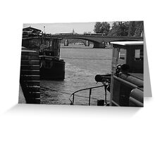 Under the Pont des Arts Greeting Card