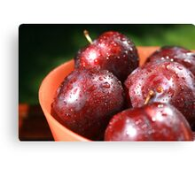 BOWL OF PLUMS Canvas Print