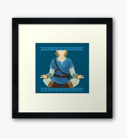 Link Meditation Framed Print