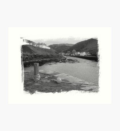 Looking Inland, Boscastle Art Print