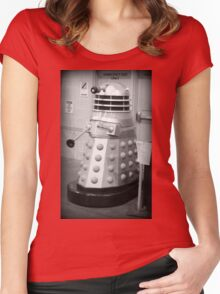 Old Fashioned Dalek Women's Fitted Scoop T-Shirt