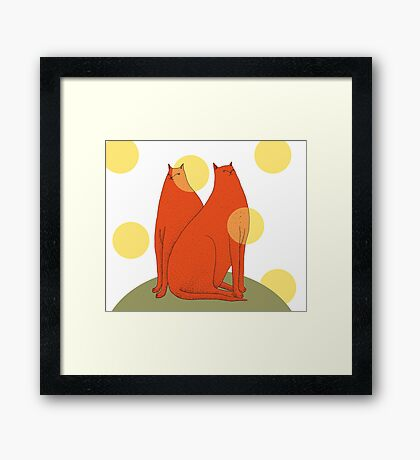 Wonder Cats Framed Print