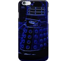 Neon Blue Dalek iPhone Case/Skin