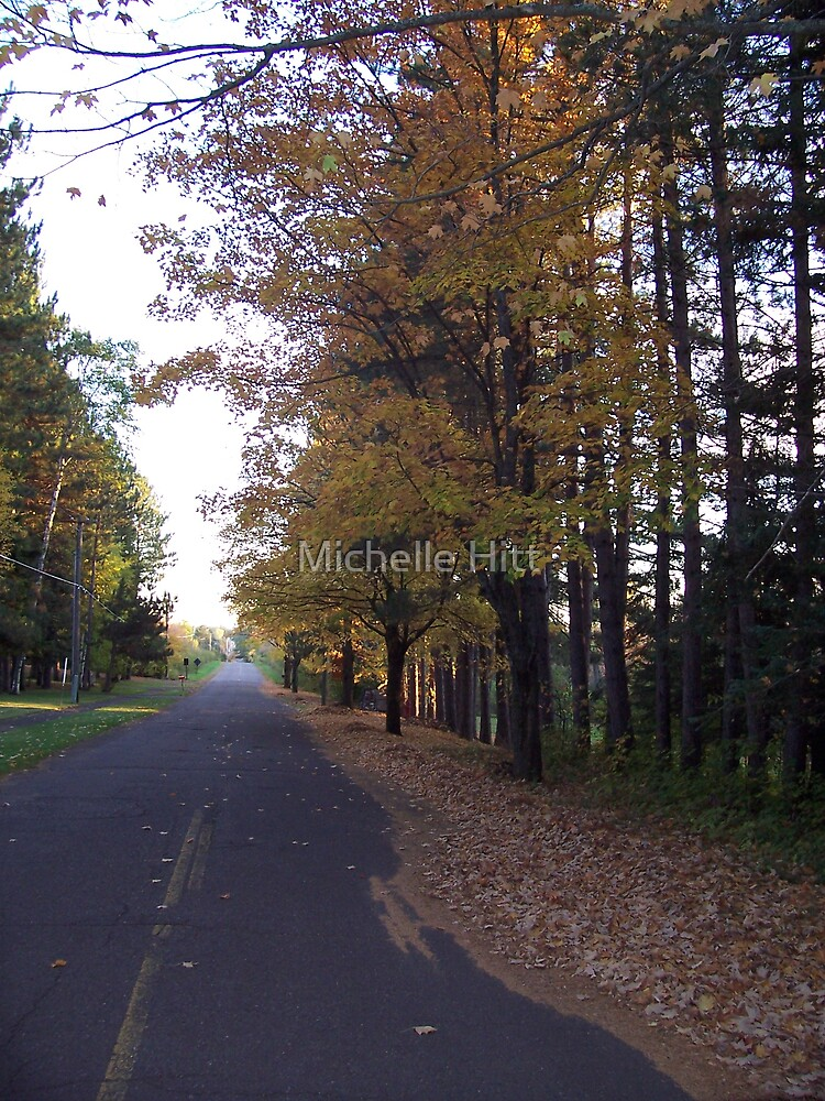 Autumn Road by Michelle Hitt