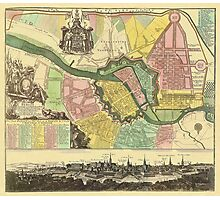 Berlin Map 1720 Photographic Print