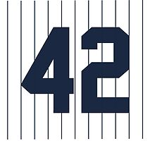 Number 42 Pinstripe Design by canossagraphics