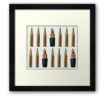 Lipsticks and Bullets Framed Print