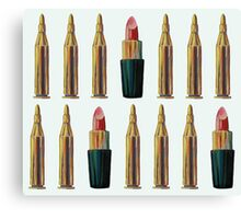 Lipsticks and Bullets Canvas Print