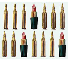Lipsticks and Bullets Photographic Print