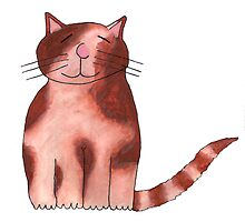 Happy Ginger & White Cat by davethewave