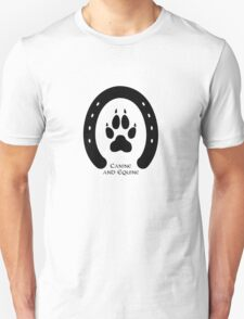 Horse shoe and canine paw print Unisex T-Shirt
