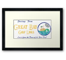 Great Bay Golf Links Framed Print