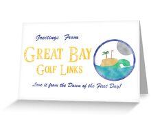 Great Bay Golf Links Greeting Card