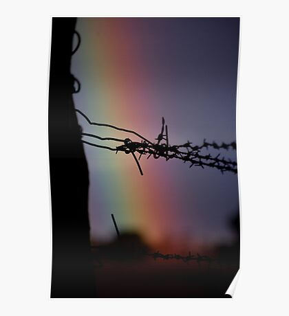 Wire Rainbow Poster
