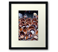 The Straw Hat, Toluco Market, Mexico  Framed Print